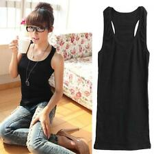 Girls Back Basic Solid Sleeveless Vest T-Shirt Tank Top