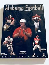 2000 ALABAMA CRIMSON Tide MEDIA GUIDE Mike DuBOSE Dustin McClintock KENNY SMITH