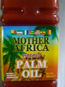 PALM RED OIL MOTHER AFRICA PURE  NO ADDED COLOURS OR PRESERVATIVES 500ML
