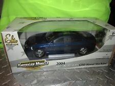 2004 pontiac GTO 1/18  American Muscle LTD 1 OF 1250 STREET MACHINE DARK BLUE