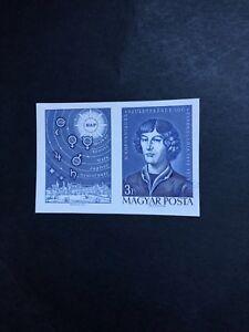 Hungary Scott No 2218 MNH Imperforate Imperf Imp Nicolaus Copernicus + Left Tab