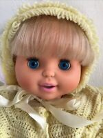 "Vintage 1992 Toy Biz Baby Loves To Talk Doll, 19"" Tall, Interactive"