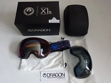 Dragon X1S Olio Lumalens Flash Blue & Dark Smoke Snow Goggle NIB New 2017
