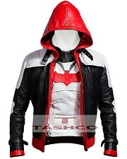 Batman Arkham Knight Red hood Leather Jacket & Vest High Quality