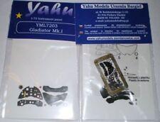Yahu Model 1:72 Gladiator Mk.I Color Instr PE for Airfix Sword Pavla #YML7203