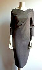 🌷🦋New# MAX MARA Brown Wool&Silk Blend Dress size USA 8_ I 42_D 38_GB 10_F 36