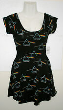 Women's Pink Floyd Dark Side Of The Moon Rock Band Sm Skater Dress New Tags