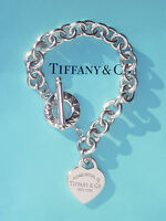 Tiffany & Co Return To Tiffany Sterling Silver Heart Toggle Bracelet