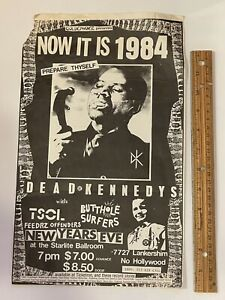 Dead Kennedys Tour Poster Tail Butthole Surfers
