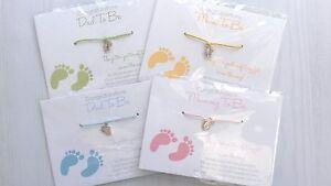 Wishing Bracelet - BABY FEET - Mum/Dad To Be SHOWER Gift - Girl/Boy/Unisex Wish
