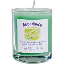 CANDLE - ABUNDANCE Herbal Magic Votive in Glass Holder - from Crystal Journey