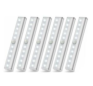 Wireless Under Cabinet Lighting LED Motion Sensor Battery Operated Closet 6pack