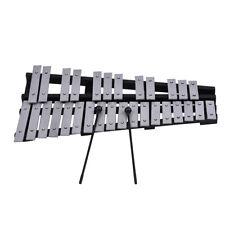 30Note Glockenspiel Xylophone Wooden Frame Aluminum Bars Musical Instrument V7F8