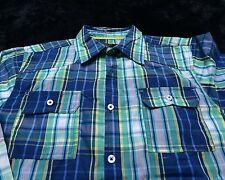 NWT NEW ENGLISH LAUNDRY Boy's Long Sleeve Button Up SHIRT Size16 Plaid