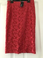Pink/Coral Jane Norman Lace Skirt