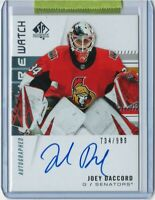 19/20 SP Authentic Future Watch Autograph #158 Joey Daccord RC (734/999)
