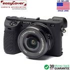 easyCover Protective Silicon Skin - Camera Cover for Sony A6500 Black Camo