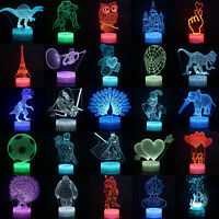 Spiderman 3D LED Illusion Night Light Touch Table Lamp Kids Gift 7 Color Change