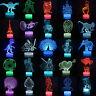 3D Illusion LED Nachtlicht 7 Farbe Licht Schreibtisch Tischlampe Nachtlampe Deko