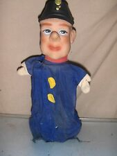 Toy Vintage Hand Puppet Guard / Policeman Scharz W Germany Vintage Rare