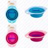 New Collapsible Travel Pet Bowl Dog Cat Feeding Water Food Bowl Pink Blue UK ✔