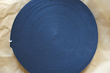 Cotton Polyester Webbing, Belt, Bag, Straps, Navy, 25mm wide, 1 Metre