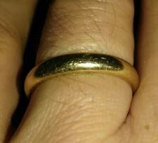 Solid 14k gold ring wedding band 5.5 grams size 10.25 stamped