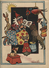 Antique Page from The Flip Flop Show-Constance White-1909-Clown,Book,Dog