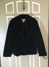 Carlucci Coat Fur With Lining Color Black Size Small