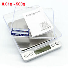 Mini Digital Scale  0.01g-500g Pocket Scales for Weighing Jewelry Kitchen UK