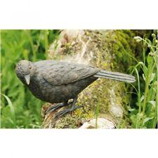 Sculpture D'Animal Blackbird En Bronze Grive Oiseau Animal Jardin Déco RO-88470