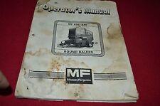 Massey Ferguson 645 656 Round Baler Operator's Manual Dcpa8