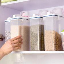 Pratique de grande capacité de stockage de denrées alimentaires Boîte plastique grain Boîte de Nourriture Réservoir Cup Fo