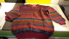 Bendi Women's size Large Good Shape Cosby Style Funky Multi Colored Sweater