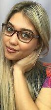New Versace Mod. 1232-B 617 Transparent 54mm Cats Eye Women's Eyeglasses Italy