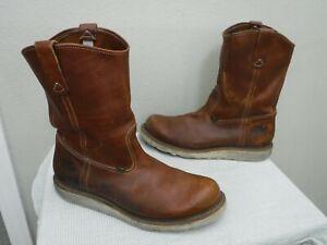 THOROGOOD AMERICAN HERITAGE WELLINGTON 12 EE Brown Leather Pull On Work Boots