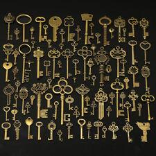 90 pcs Antique Vtg old look Ornate Skeleton Keys Lot Pendant Fancy Heart