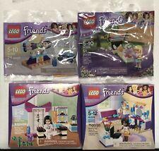 Lego Friends lot of 4 sets 30399 30400 41002 41009 Emma's Karate Andrea