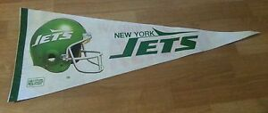 New York Jets / Washington Red Skins 1970's full size pennant