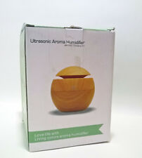Ultrasonic Aroma Humidifier by Lychee 130 ml Dark Wood USB Color Changing