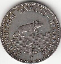 Anhalt-Bernburg Ausbeute-Taler 1861 A, - 6 / EINEN THALER - Silber.! orig.! vz.