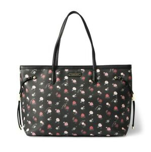 Victoria's Secret mixed everything/carry all Tote new black floral