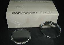SWAROVSKI ® - 1 Pz Pendente Disco Con Foro 6402/2 -44 mm Clear Crystal Vintage
