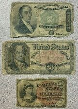 Three (3) Note Fractional Currency * 10 50 Cents * 10c 50c * Fourth Fifth Issues