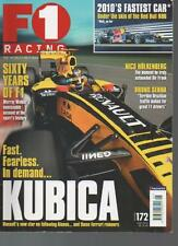 F1 RACING MAGAZINE June 2010 No.172 Kubica AL