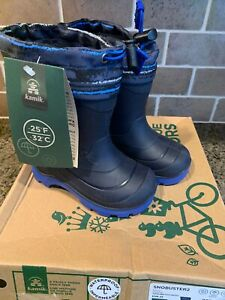 Kamik Toddler Size 8 Snobuster2 Lined/Waterproof NEW Navy