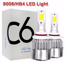 HB4 9006 C6 LED COB Bulbs White 6000K 72W Low Beam Headlight Light Bulbs Set