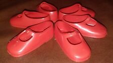 Vintage Ideal Doll Shoes Shirley Temple Red Soft Rubber 50's 3 Pairs 7M-5347-01