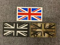 BTP Black Union Jack Lazer Cut Moral Patch Hook /& Loop backing Airsoft