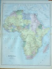 1882 ANTIQUE MAP AFRICA SOUDAN GUINEA CAPE COLONY MADAGASCAR NATAL NUBIA EGYPT